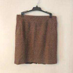 Loft brown pencil skirt size 4